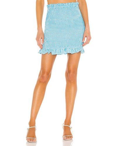 Текстильная синяя юбка стрейч Bcbgeneration