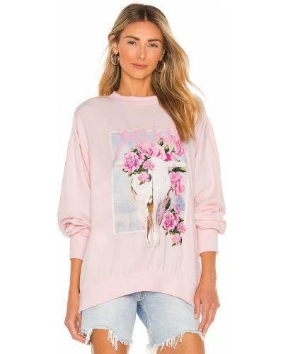 Różowy sweter z printem Selkie