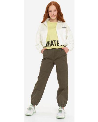 Зеленые брюки карго с поясом Gloria Jeans