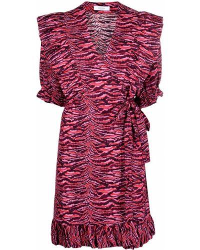 Асимметричное розовое платье из вискозы Roseanna