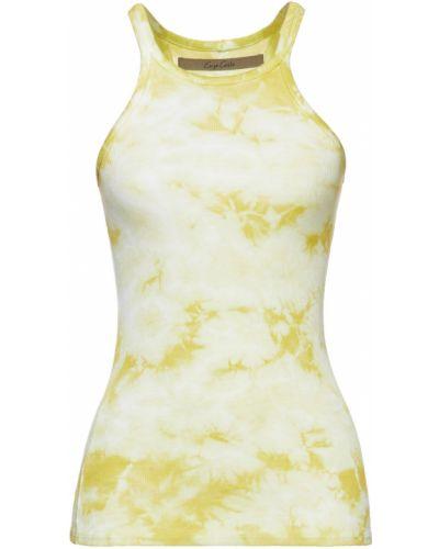 Желтая шелковая резинка для волос Enza Costa