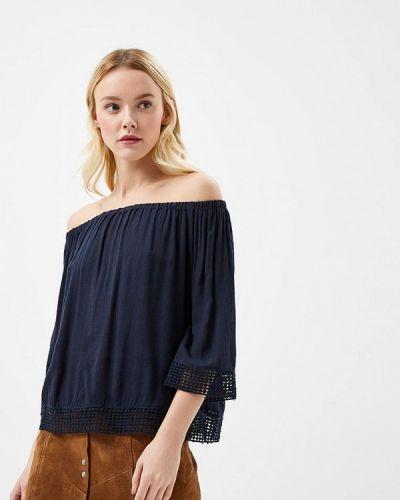 Синяя блузка с открытыми плечами Jacqueline De Yong