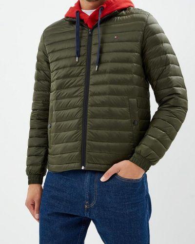 Зимняя куртка осенняя зеленая Tommy Hilfiger