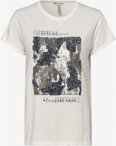 Beżowa brokatowa t-shirt Street One