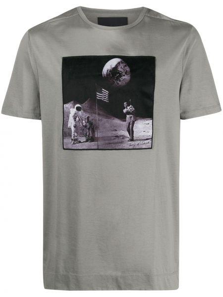 T-shirt bawełniany krótki rękaw z printem Limitato