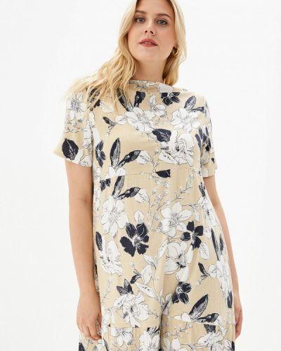 Платье платье-сарафан бежевое Kontaly