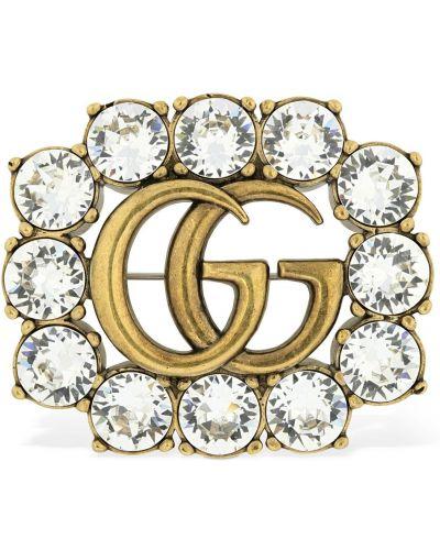 Broszka srebrna Gucci