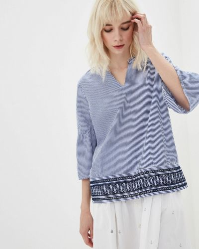 Блузка синяя весенний Iwie