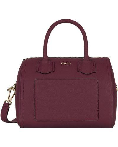 Кожаная сумка сумка-саквояж среднего размера Furla