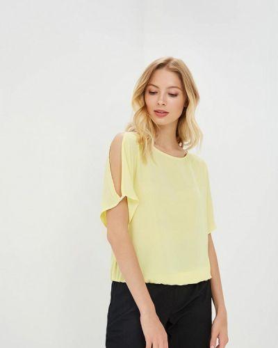 Блузка с открытыми плечами желтый весенний Top Secret