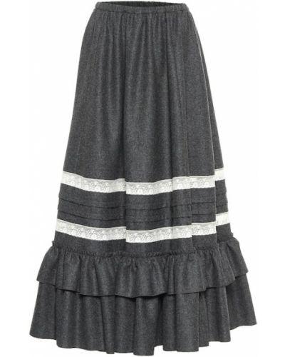 Wełniany spódnica maxi zabytkowe Gucci