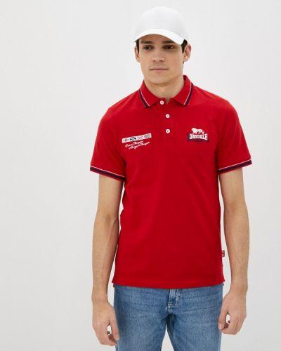 Красная футболка Lonsdale