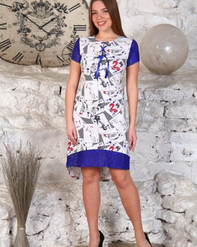 Платье мини повседневное с вырезом Грандсток