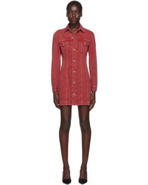 Джинсовое платье макси на пуговицах Helmut Lang