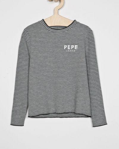 Блуза серая из вискозы Pepe Jeans