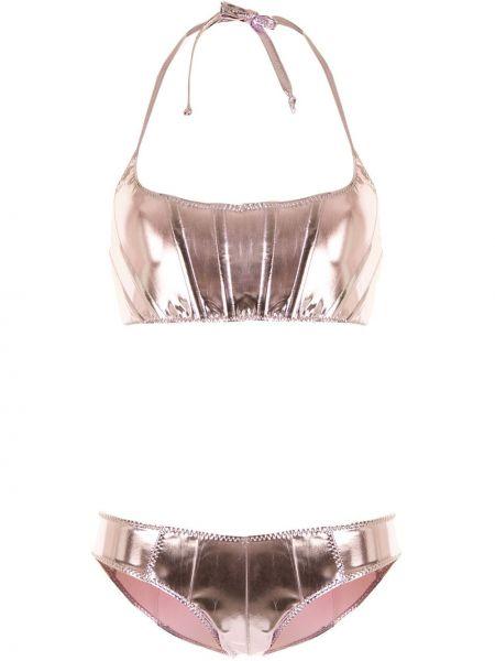 Фиолетовые нейлоновые бикини с декоративной отделкой Lisa Marie Fernandez