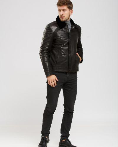 Куртка с мехом - черная Zilli