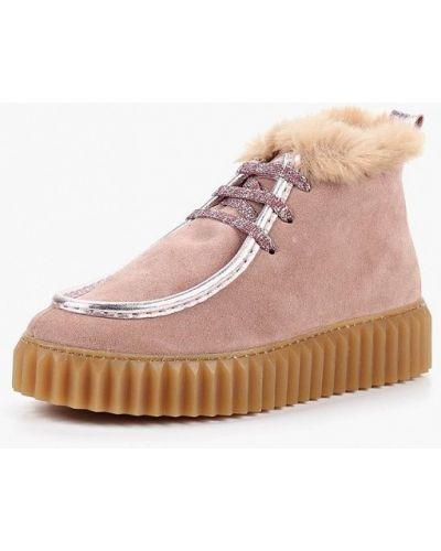 Ботинки на каблуке осенние замшевые Voile Blanche