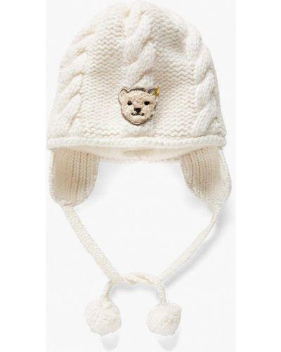 Белая шапка Steiff