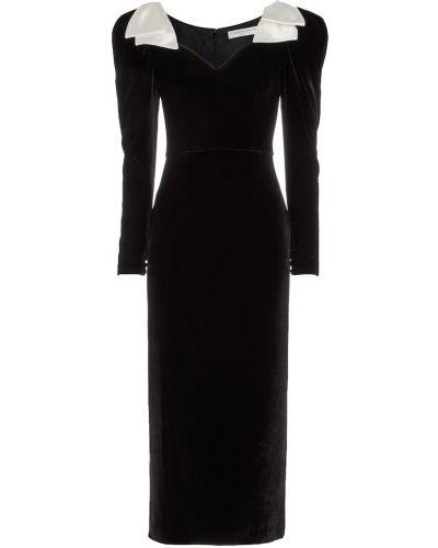 Черное шелковое платье Alessandra Rich