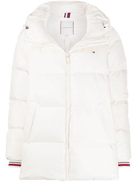 Классическая куртка с капюшоном айвори с манжетами с карманами Tommy Hilfiger