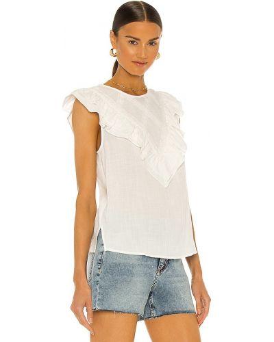 Biała bluzka koronkowa bawełniana sznurowana Bcbgmaxazria