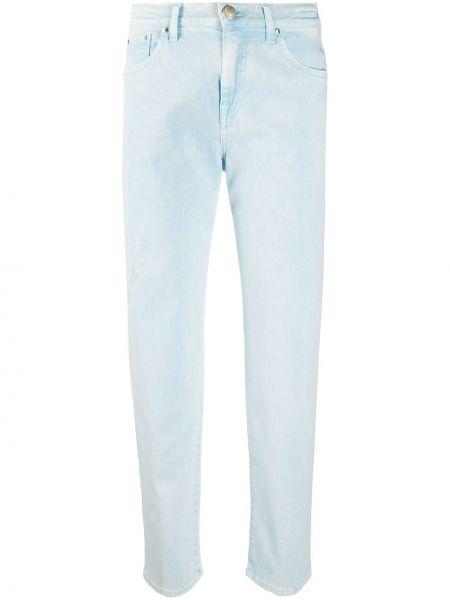 Синие с завышенной талией прямые джинсы Jacob Cohen