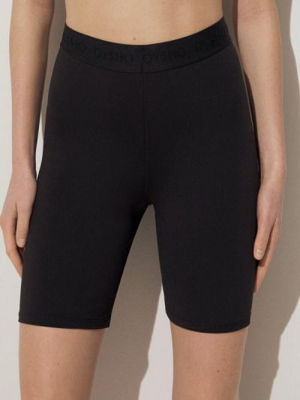 Черные шорты осенние Oysho