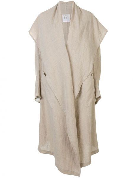 Длинное пальто оверсайз с капюшоном с воротником Y's