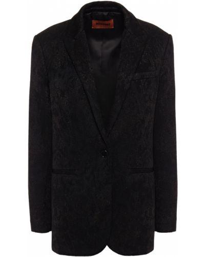 Черный пиджак с карманами жаккардовый Missoni