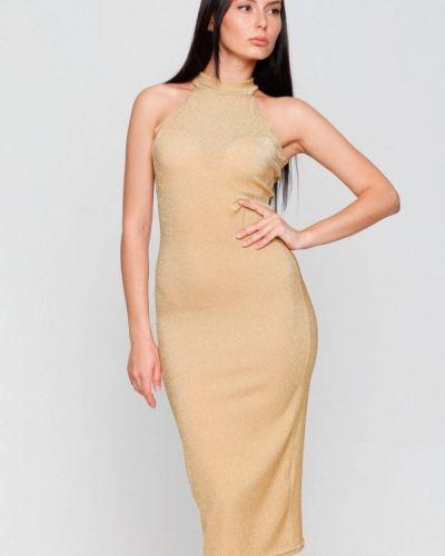 Вечернее платье осеннее золотой Karree