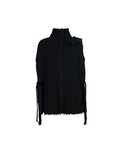 Черное пальто осеннее Valentino Red