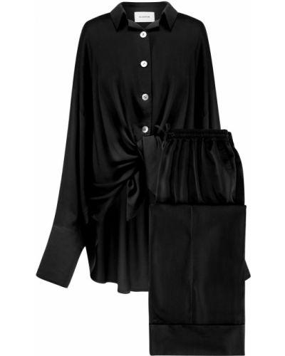 Czarna piżama z wiskozy Sleeper