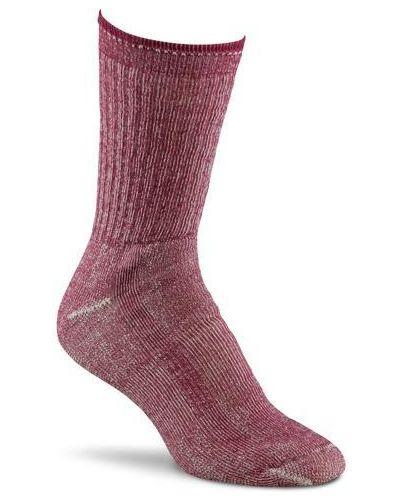 Малиновые компрессионные шерстяные носки Foxriver