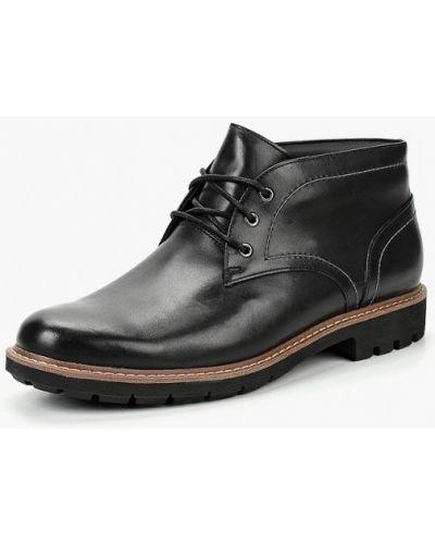 Ботинки осенние кожаные высокие Clarks
