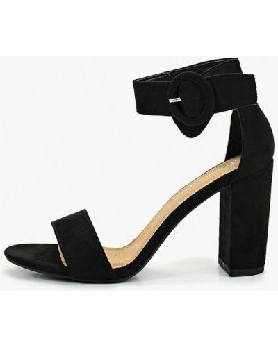 Босоножки черные на каблуке Coco Perla