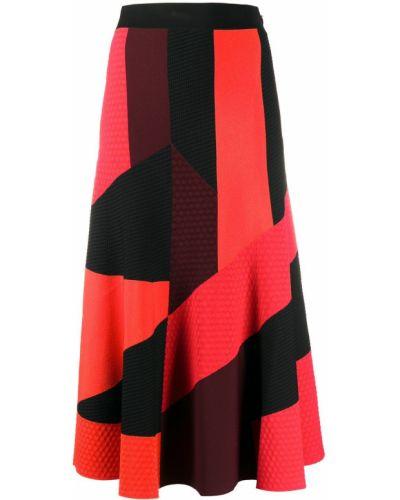 Черная с завышенной талией юбка из вискозы с декоративной отделкой Alexander Mcqueen