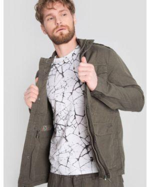 Зеленый пиджак с воротником-стойка с карманами на кнопках Ostin