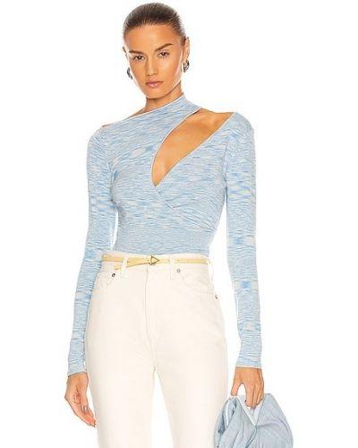 Niebieska koszulka z wiskozy Atoir