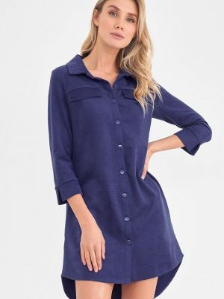 Синее платье Donatello Viorano