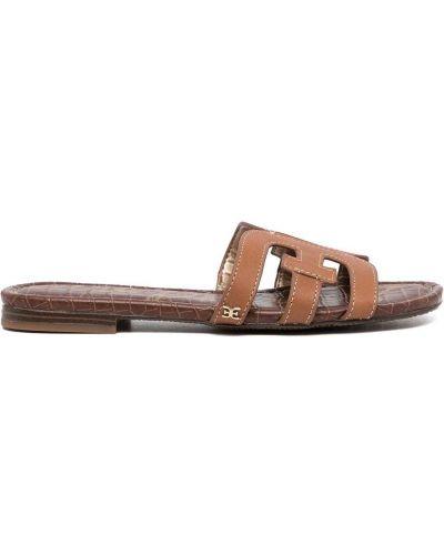 Brązowe sandały peep toe Sam Edelman