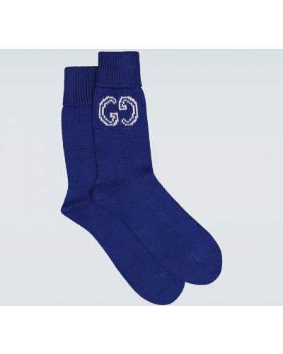 Bawełna bawełna niebieski skarpety z logo Gucci