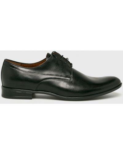 Туфли на шнуровке черные Conhpol