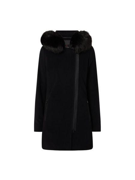 Czarna kurtka wełniana asymetryczna Fuchs Schmitt