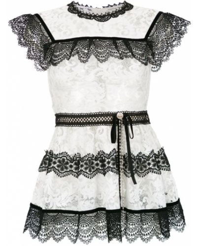 Блузка с коротким рукавом кружевная батник Martha Medeiros