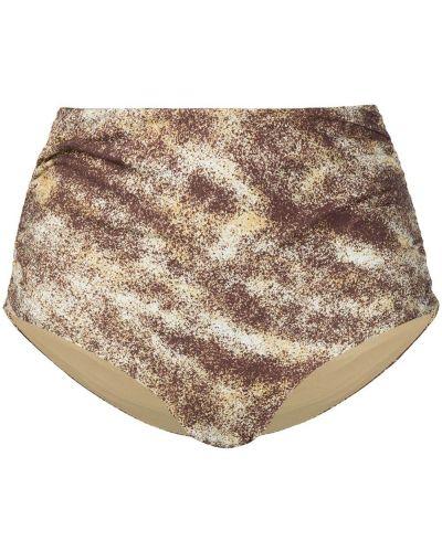 Пляжные коричневые бикини с высокой посадкой без застежки Marysia