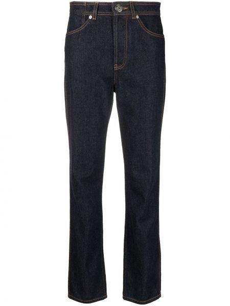Зауженные черные джинсы-скинни с нашивками Lanvin