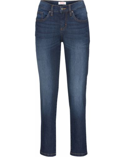 Прямые джинсы стрейч широкие Bonprix