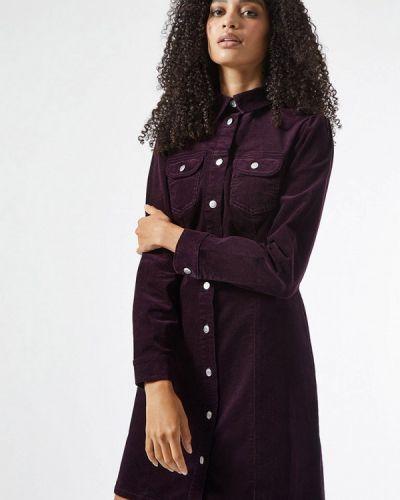 Фиолетовое платье-рубашка Dorothy Perkins