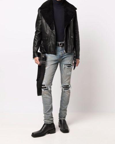 Черная куртка длинная Amiri